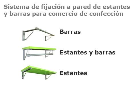Soportes para estantes y barras directos a pared mensulas - Soportes de estanterias ...